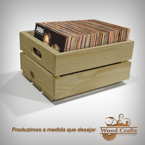 Crates for LPs - Wood Crafts - 50x35x30cm