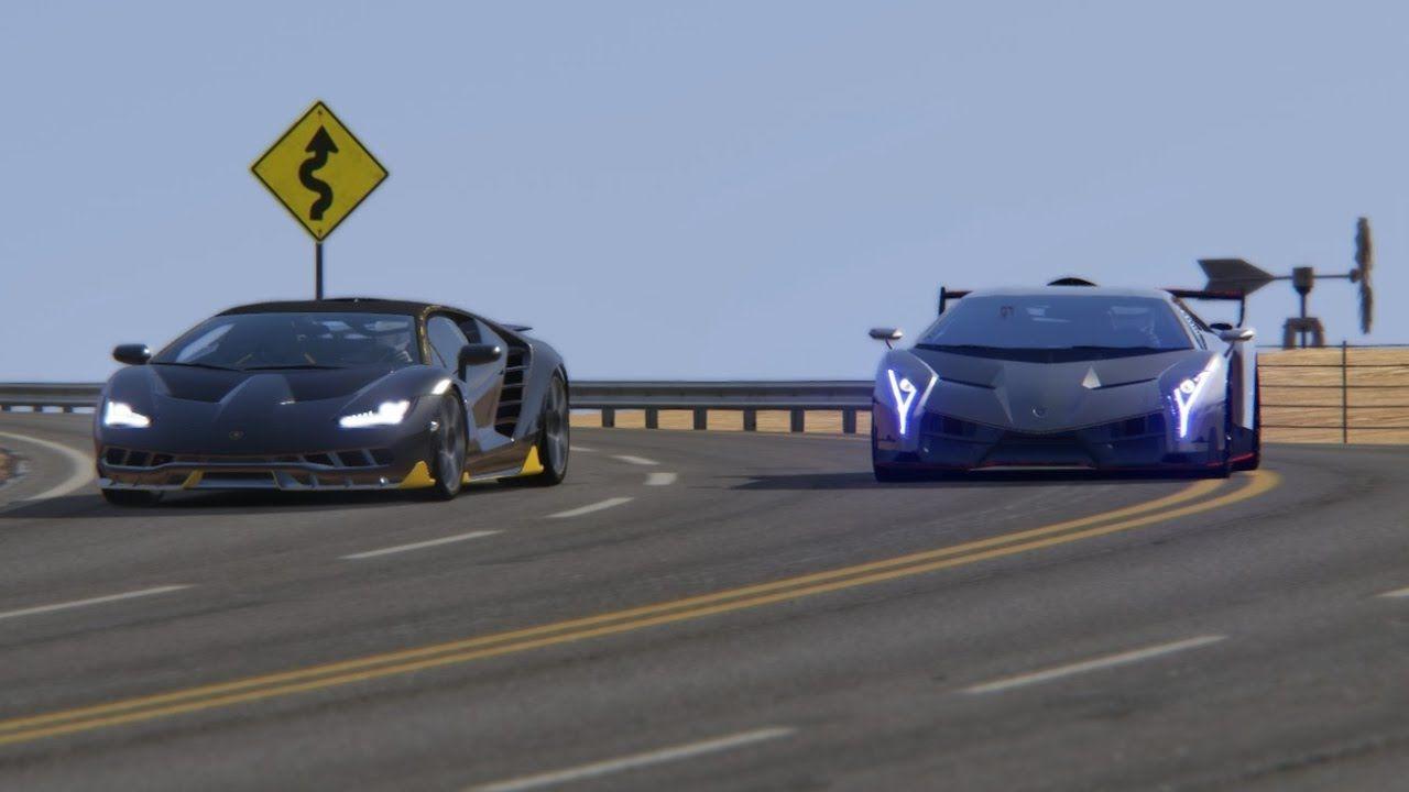Battle Lamborghini Veneno Vs Lamborghini Centenario At Black Cat