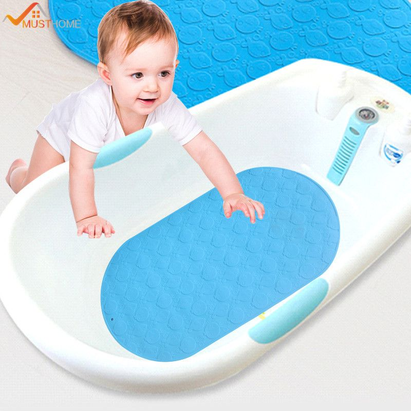25cmx42cm Soft Silicone Child Non Slip Bath Mat Mini Bathtub Mat For ...