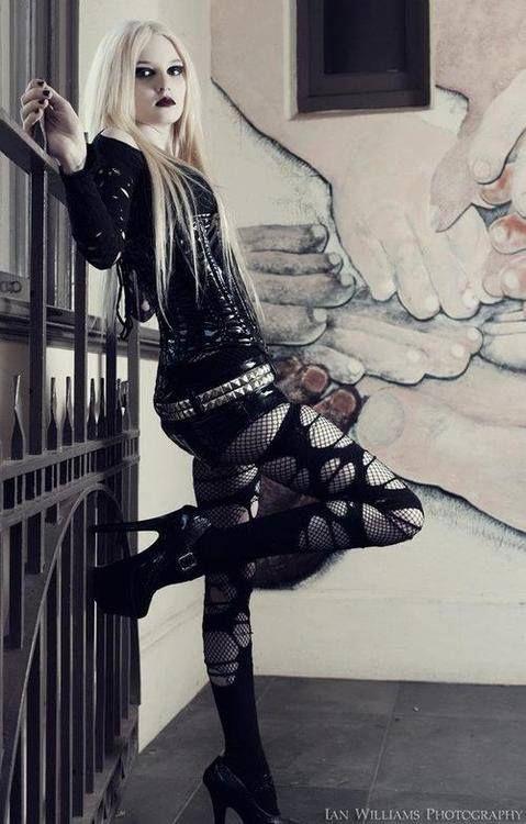 0296a90e751 goth gothic vampire alternative lolita dark makeup dress skirt heels  beautiful pretty sexy girl woman fetish