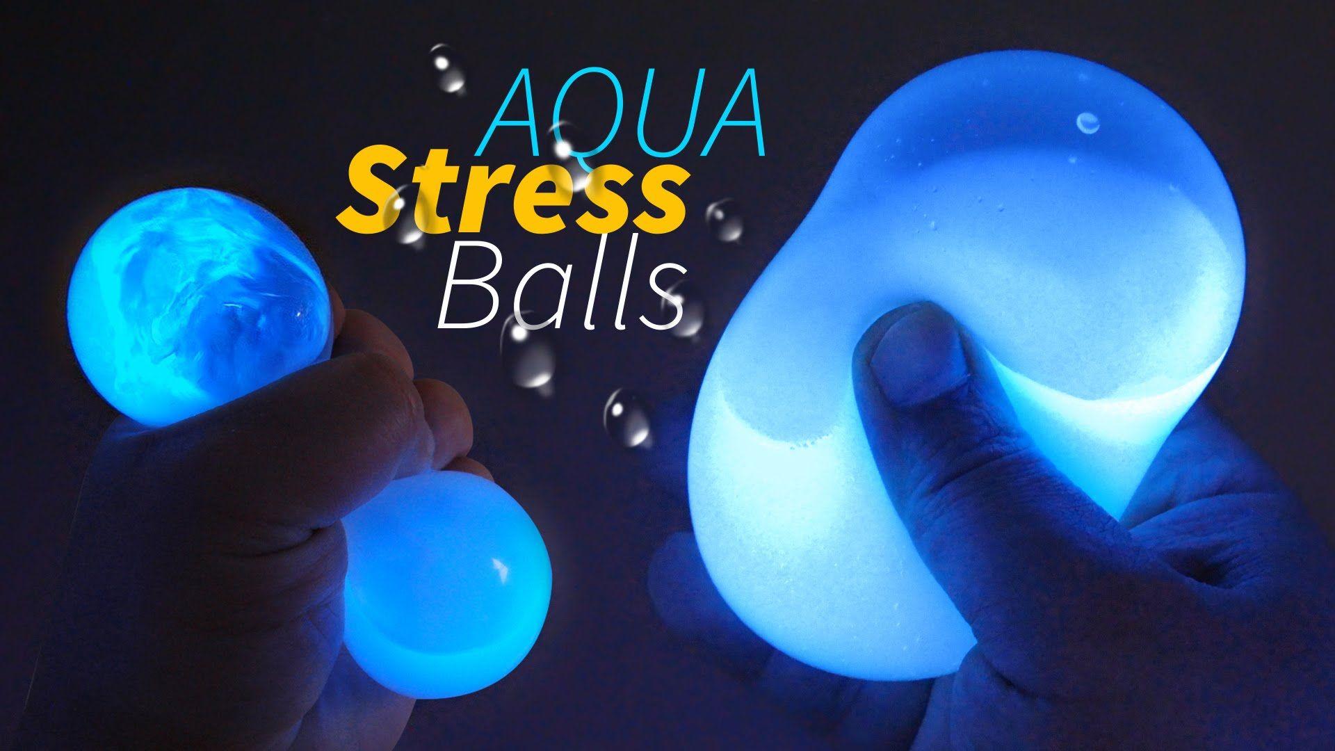 DIY GLOW AQUA Squishy Stress Balls How to Make Liquid Stress