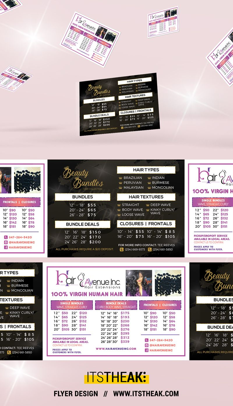 get these templates customized to match your hair extension business