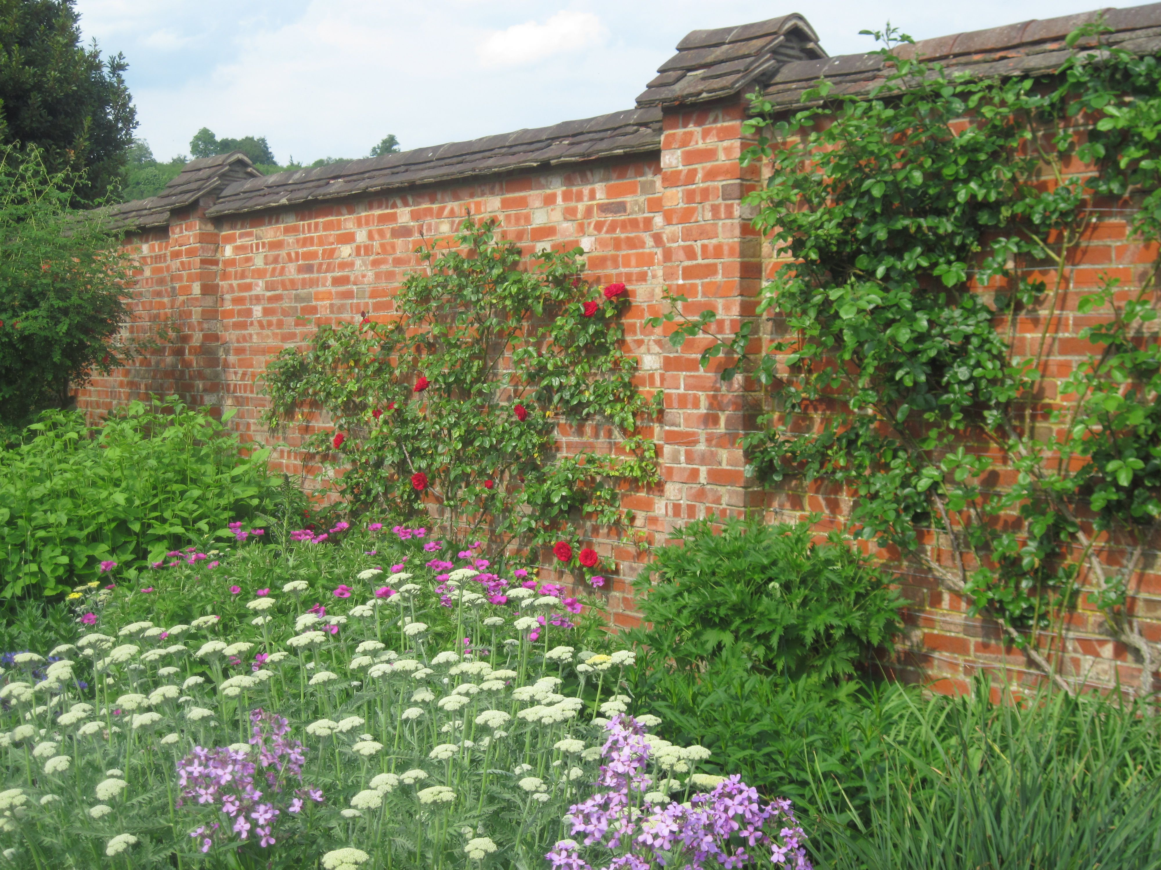 English Countryside Brick Garden Brick Wall Gardens English Countryside