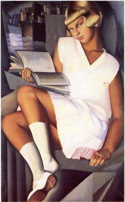 Portrait de jeune fille by Tamara de Lempicka (1900-1980)