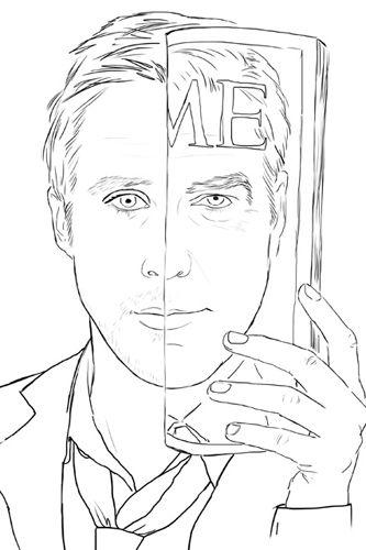 Ryan Gosling Coloring Book I Love Mel Coloring Books Ryan Gosling Anti Stress Coloring Book