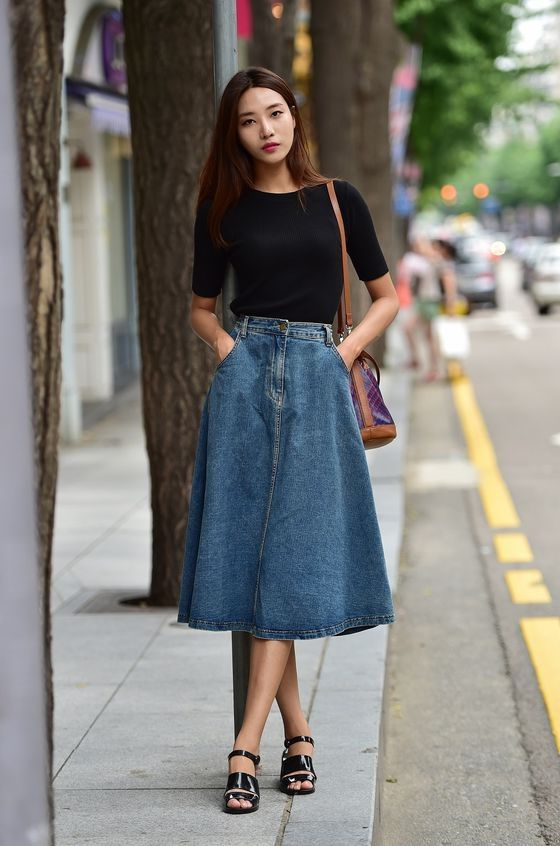 8edf1264e42 25 Ways To Wear Denim Skirts 2018