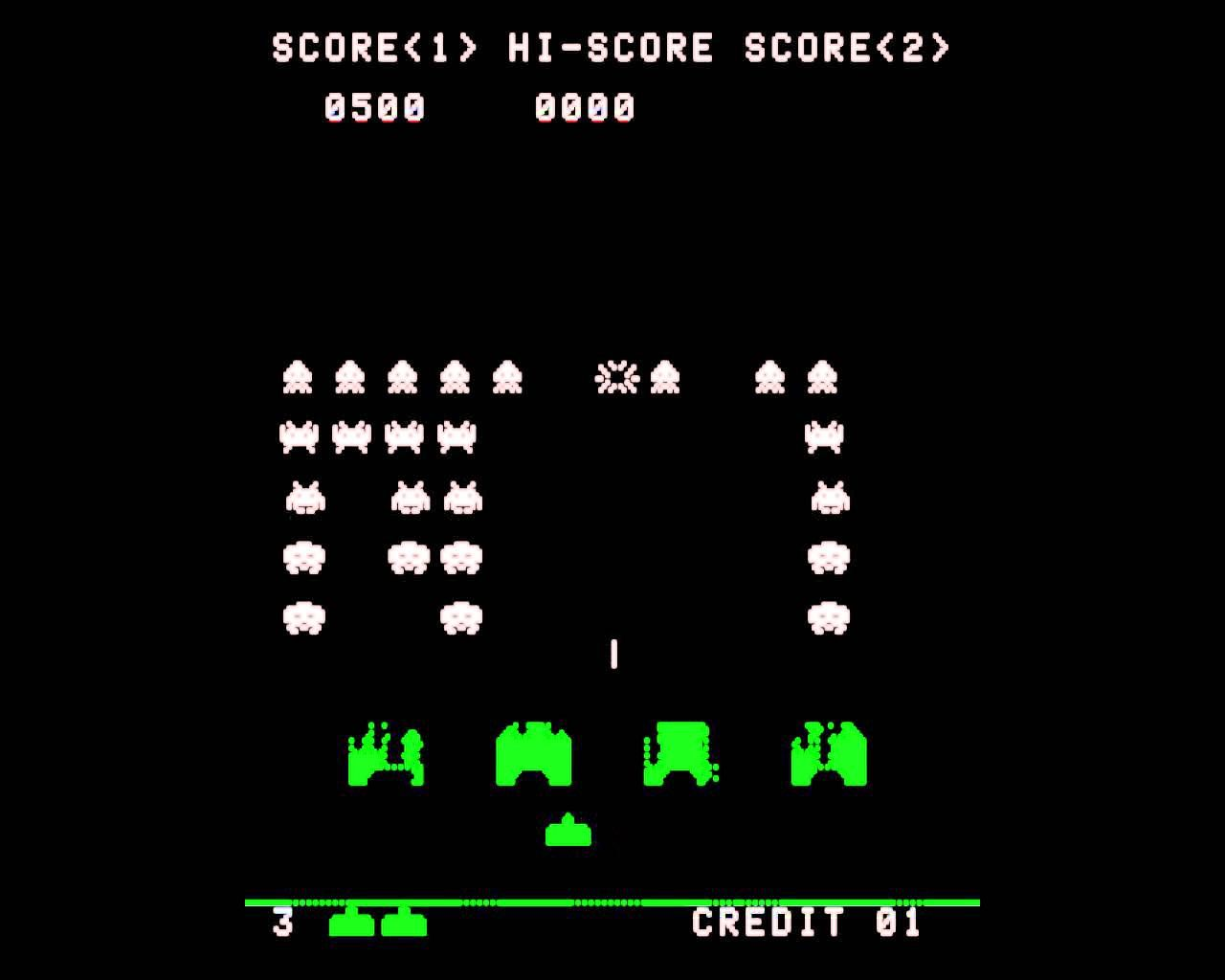 Space Invaders (1978) - First proto-music in games