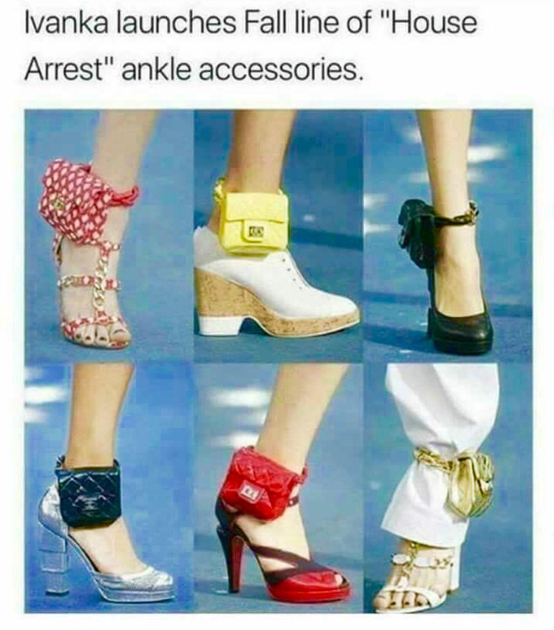 65f68f5c56de LOL. She may very well need them.   Bad Joke   Ankle bracelets ...