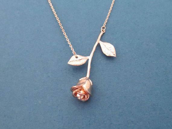 Beautiful Rose gold Rose Necklace Flower Necklace 1d6d50b1d6