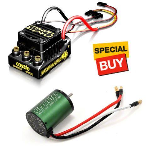 Speed Controllers 74312: Castle Sw4 Sidewinder 4 Wp Sensorless Esc +