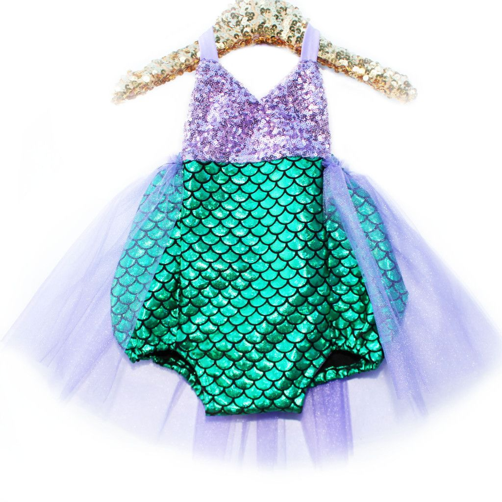 Loco for Coco Mermaids Tutu Sparkle Romper | Birthdays, Mermaid ...
