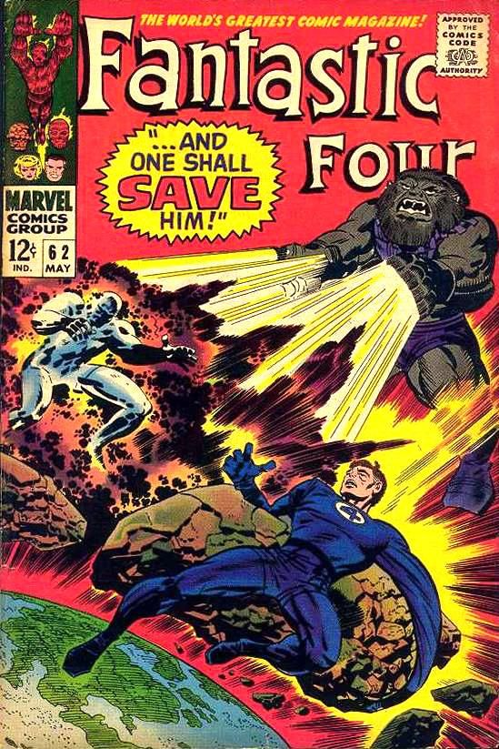 Fantastic Four #62, Art: Jack Kirby, Blastaar, Silver Surfer