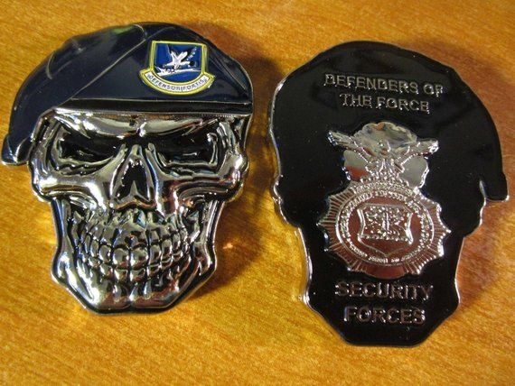USAF Security Forces Defenders of the Force MP SF Skull
