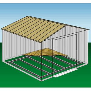 Shed Floor Frame Kit For 8 X 8 Ft 10 X 7 Ft 10 X 8 Ft 10 X 9 Ft 10 X 10 Ft Walmart Com Steel Sheds Shed Plans Shed Building Plans