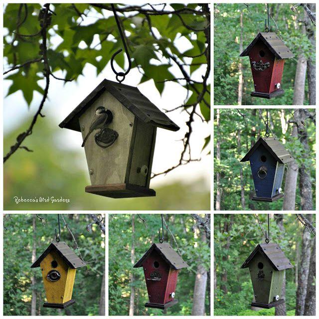 rebecca s bird gardens blog rustic hanging birdhouse the villa rh pinterest es