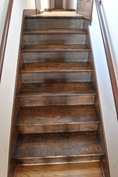 Dark Walnut Stain On Pine Pine Stairs Stain Dark « All City | Staining Pine Stair Treads | Painting | White Pine | Wooden | Tile | Stained White Oak