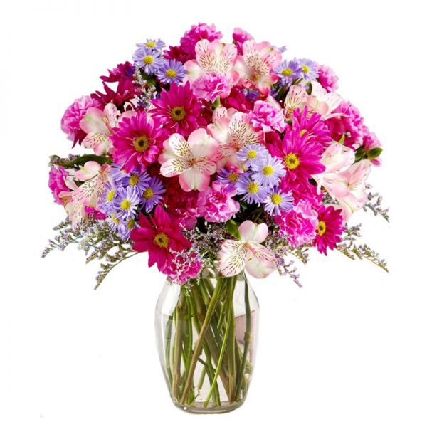 Cheerful Pink Blooms available online from GiftLady.net delivered ...