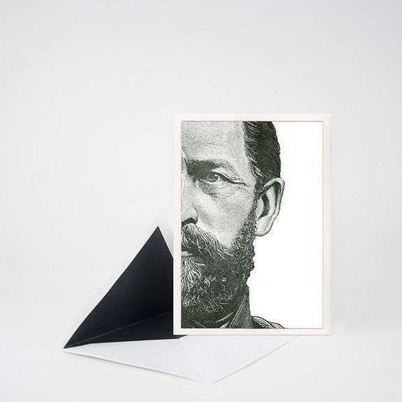 5x7 Card Suitable For Framing Blank Inside Letterpress