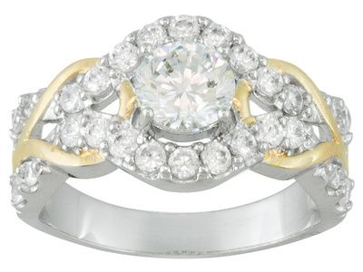 Bella Luce 2 92ctw Sterling and 18k Yellow Gold over Sterling
