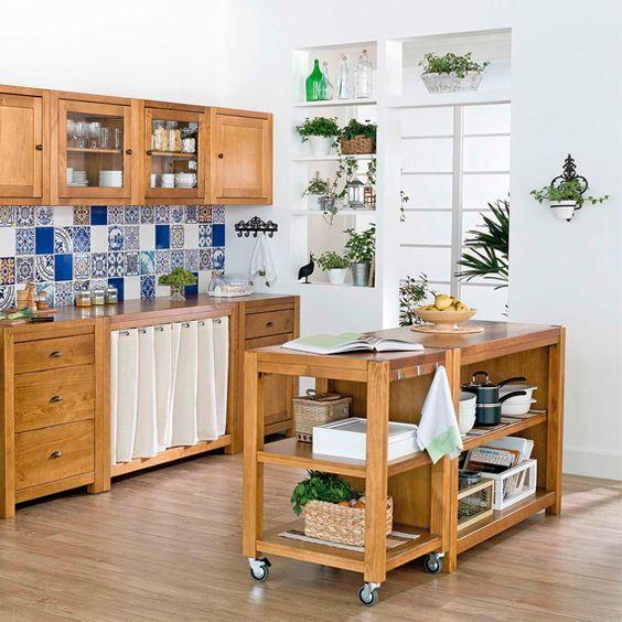 Muebles auxiliares de cocina tendencias 2017 hoylowcost como organizar la cocina - Muebles para organizar ...
