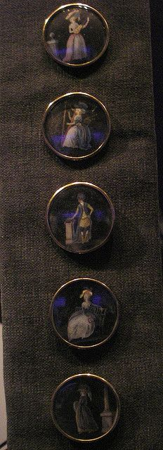 Buttons from a gentleman's frock coat, c. 1780