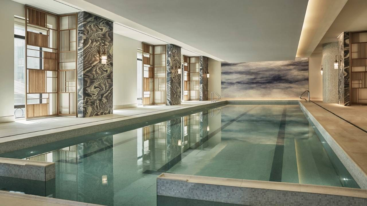 Four Seasons Hotel New York Downtown A Lower Manhattan Luxury Hotel In South Luxury Pools Dream Pool Indoor Hotel Swimming Pool