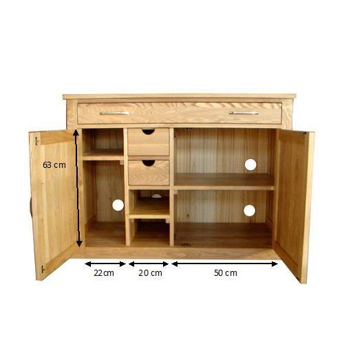 Oak Home Office Hidden Workstation - COR06A