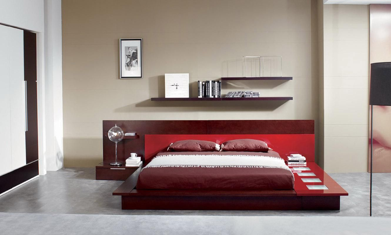 Vig furniture gamma modern platform queen bedroom collection with air - Bedroom Excellent Design Modern Italian Bedroom Sets Interior Wonderful And Unique Bed Frame With Red Color Ideas Zen Bedroom Furniture Hanging Rack Above