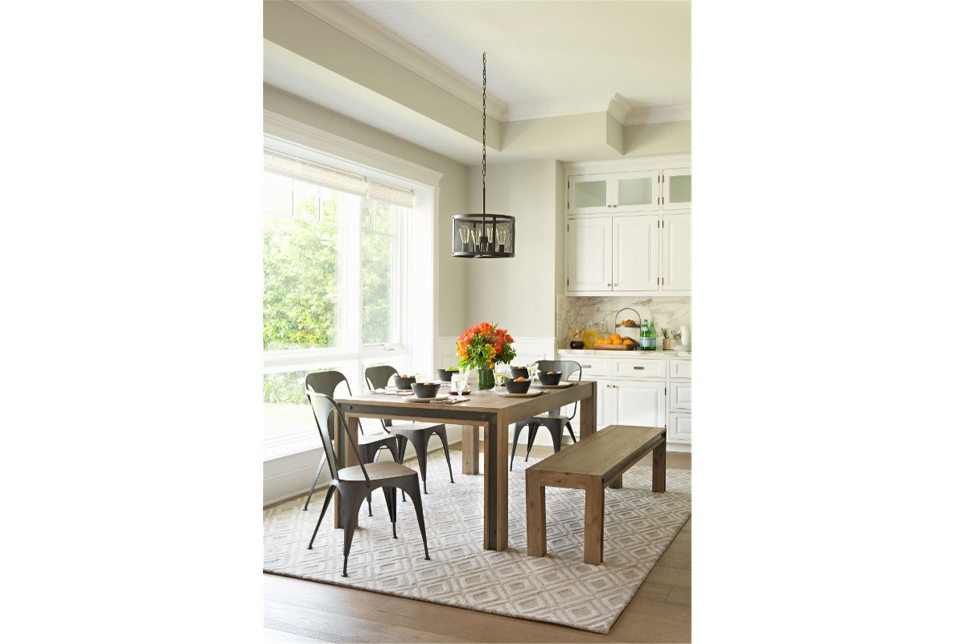 Amos 6 Piece Extension Dining Set, Grey | Dining sets, Living spaces ...