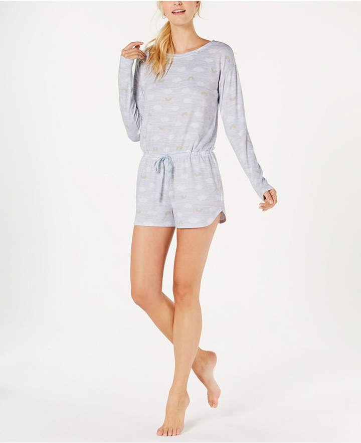 8063d803ae4e Jenni Soft Printed Knit Pajama Romper  Printed Soft Jenni