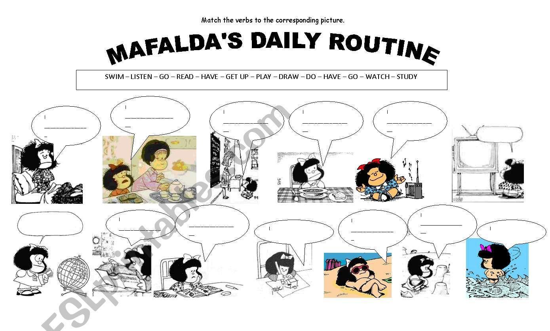 Mafalda S Daily Routine