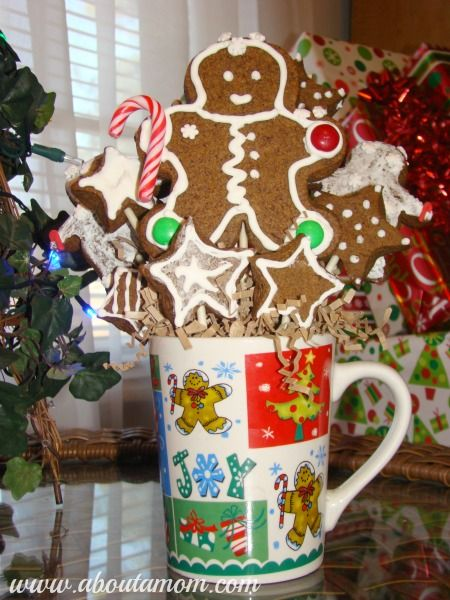 Gingerbread Man Cookie Bouquet