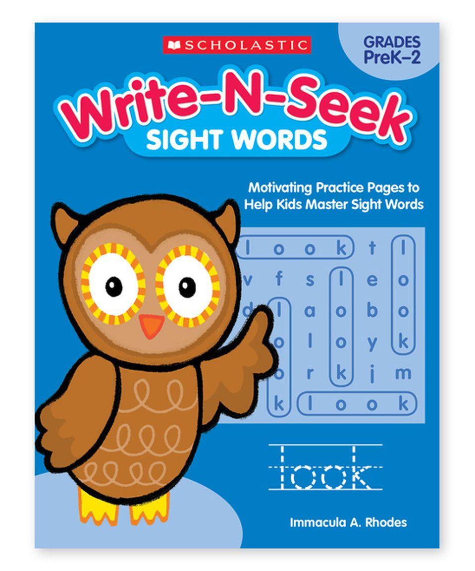 Workbooks prek workbooks : Take a look at this Grades PreK-2 Write-N-Seek: Sight Words ...
