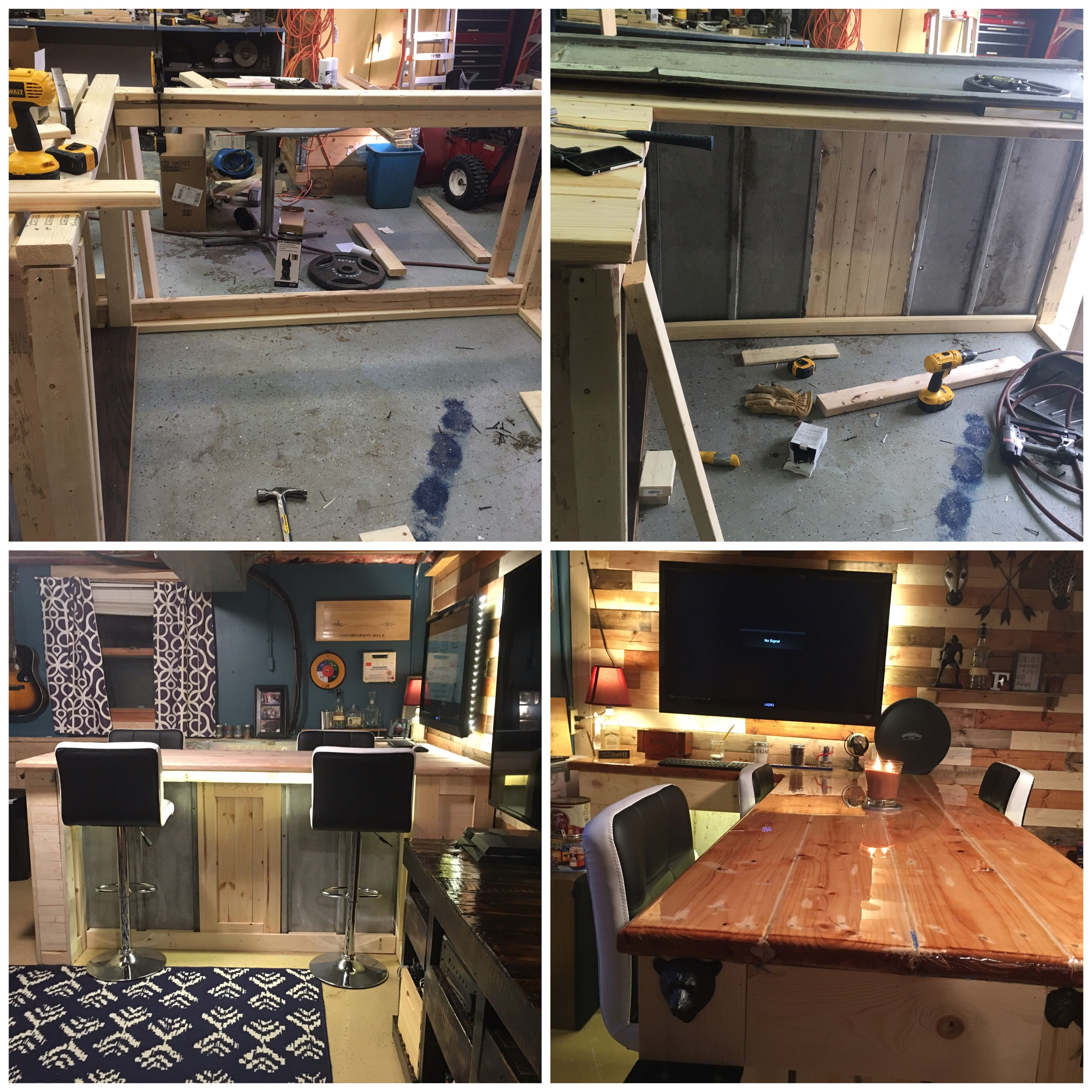 homemade man cave bar. Diy Man Cave Bar , Built From 2x4s 1x4s And The Top Out Of 2x8s Homemade E