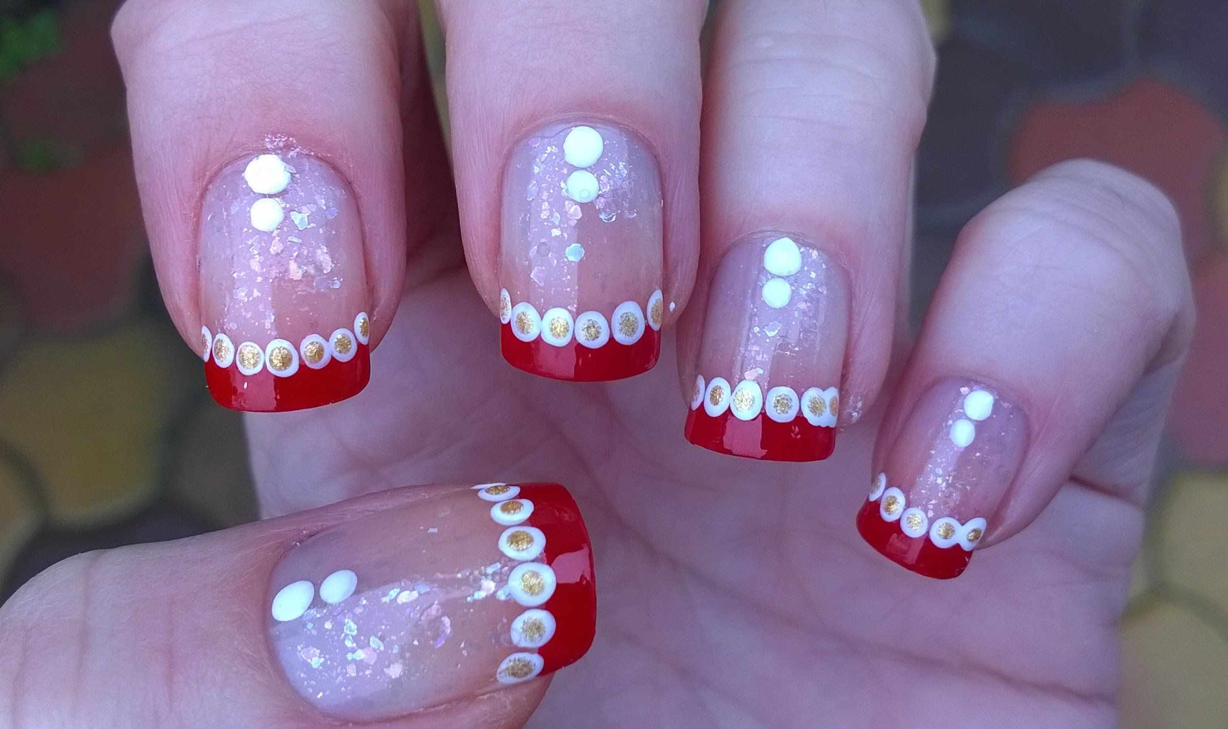 Easy CHRISTMAS Nail Art Designs: DIY French Manicure On Short Nails ...