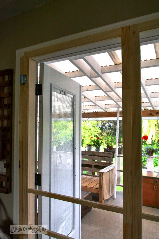 Installing screen doors on french doors easy and cheap for French doors back porch