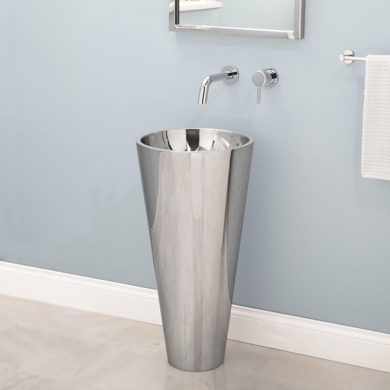pedestal sink bathroom