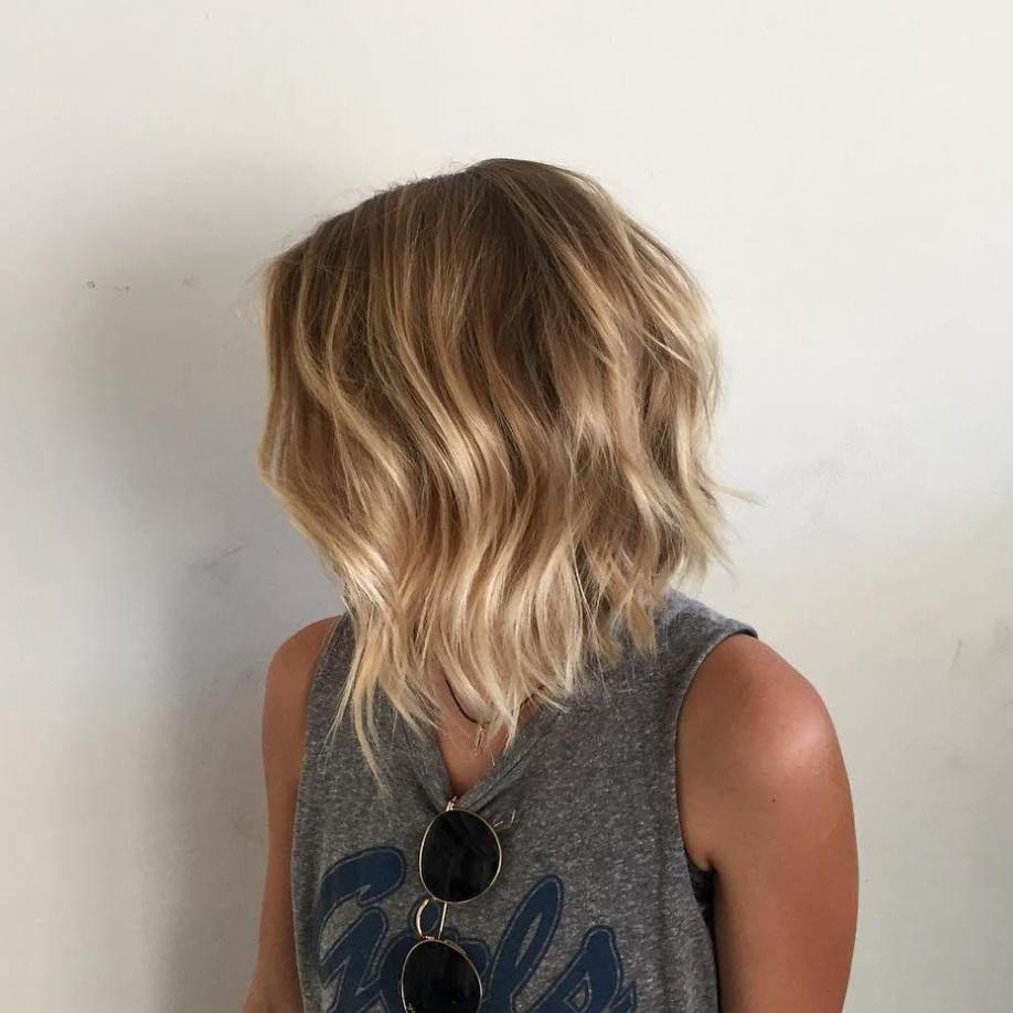 Blonde Balayage Bob 2017 Cheveux Naturels
