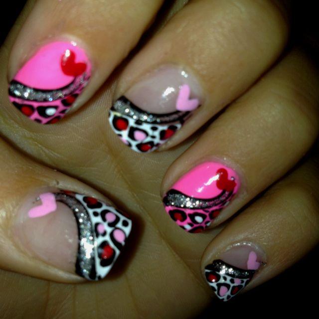 My Valentine nails!