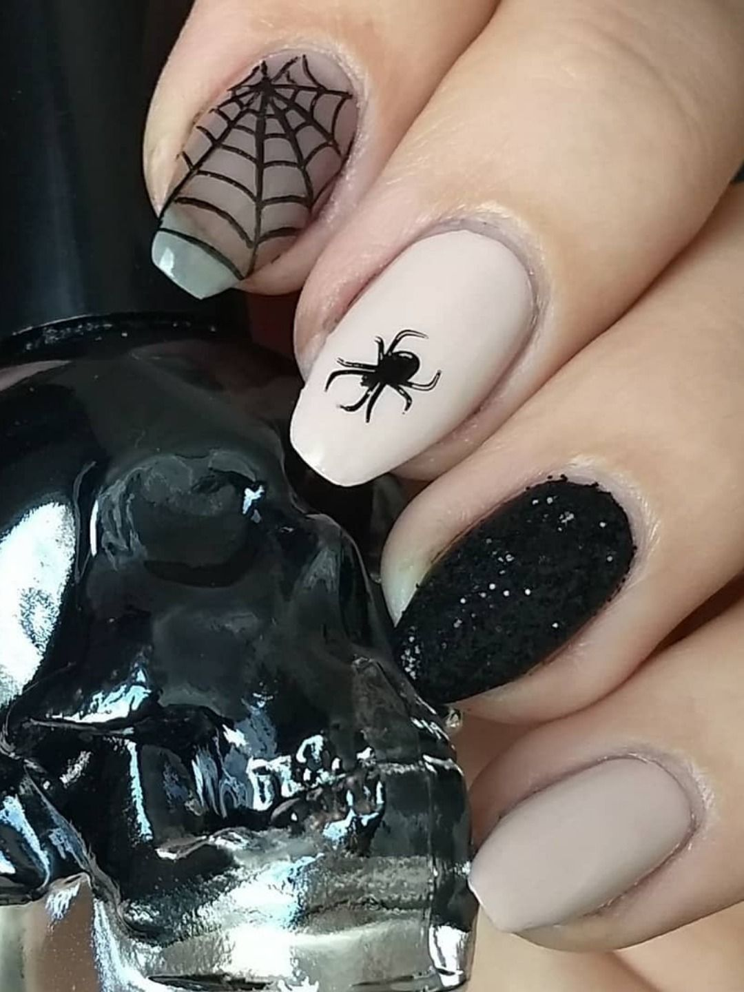 Spider web Halloween coffin nails 2019 | Nails, Candy corn ...