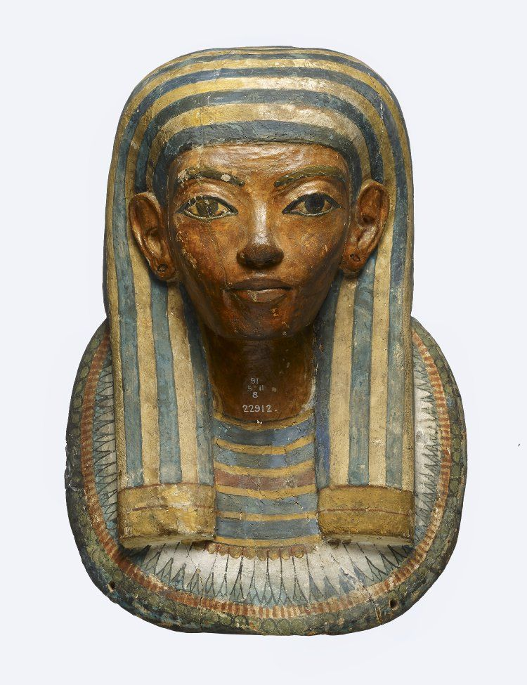 Painted Wooden Mummy Mask 18th Dynasty The British Museum