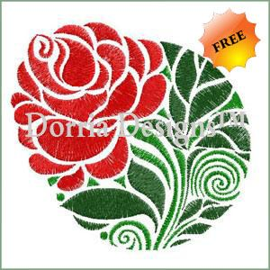 Decorative floral embroidery design 235 , download and sew