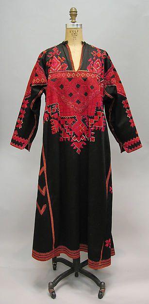 Dress, Palestinian, 1940s-50s