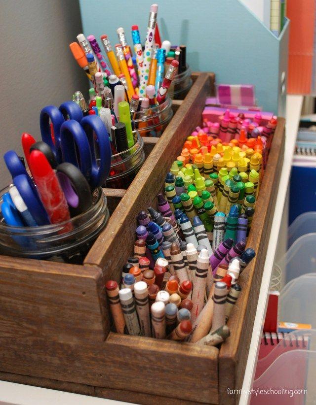 10 Ways To Reclaim The School Room Crayon Storage Pen