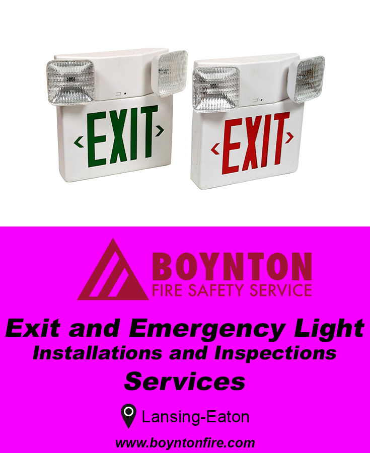 Need Exit And Emergency Light Installation Or Repairs Call Us Now 517 316 9911 We Service Fire Safety Services Emergency Lighting Fire Protection Services