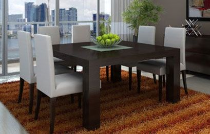 Modern Square Dining Table For 8 | Square dining room table ...