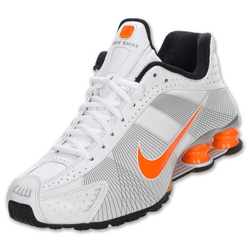 25629286b29639 Nike Shox R4 Flywire - White Black Blaze Orange