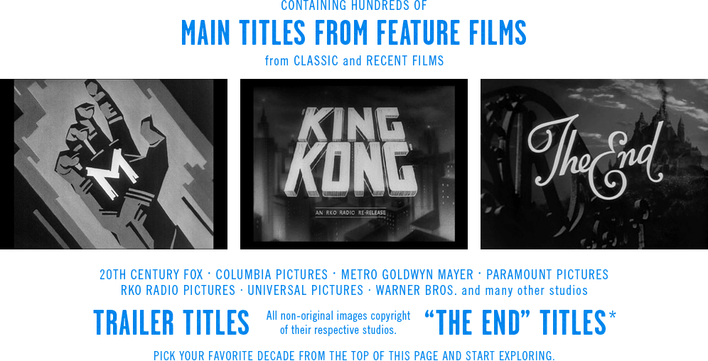 the Movie title stills collection website | interactive class
