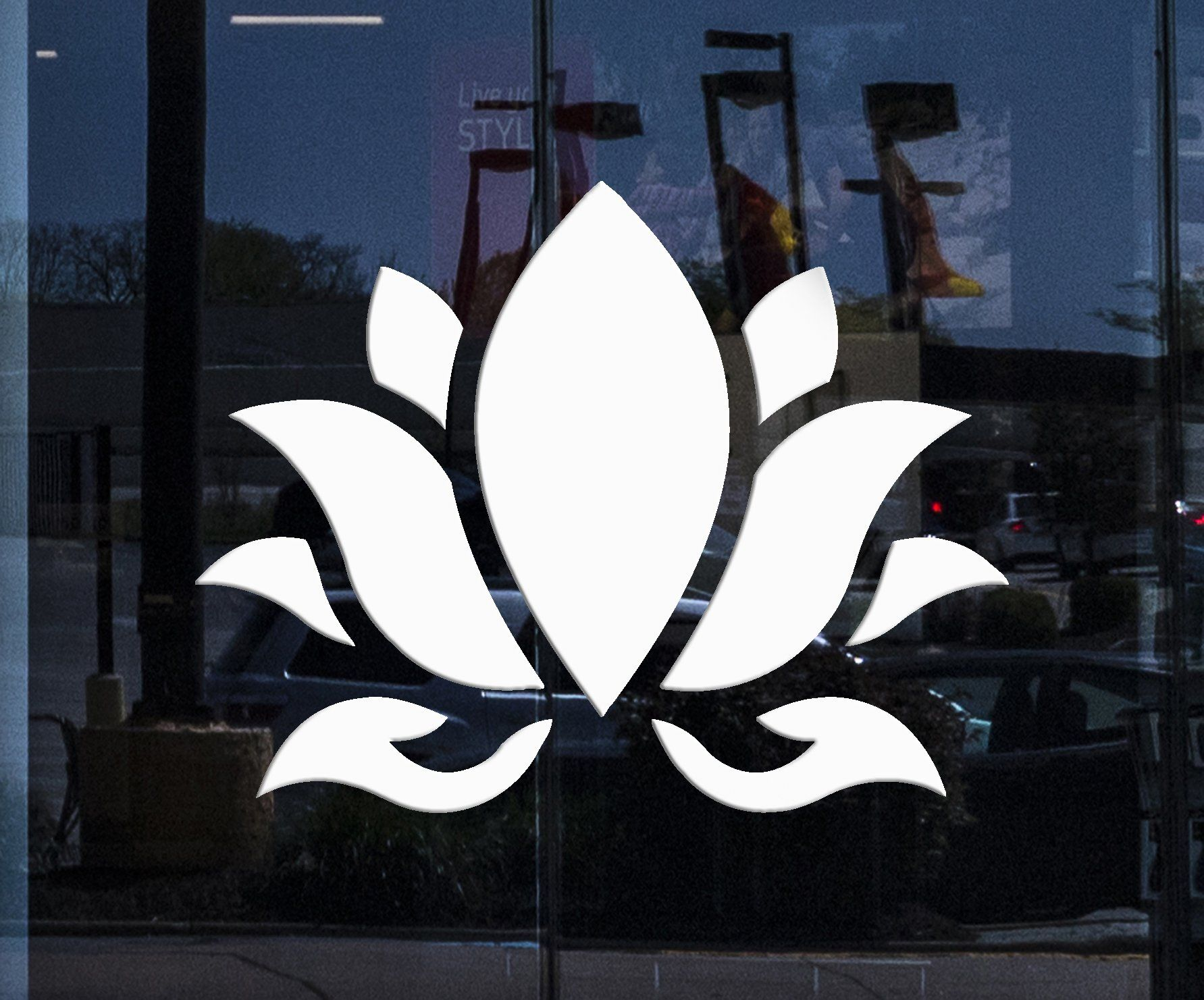 Custom Window And Wall Vinyl Decal Lotus Flower Buddhism Hinduism