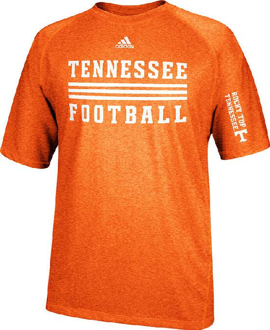 Tennessee Volunteers Sidelines Evade Heather Orange Climalite SS Shirt by Adidas $31.95